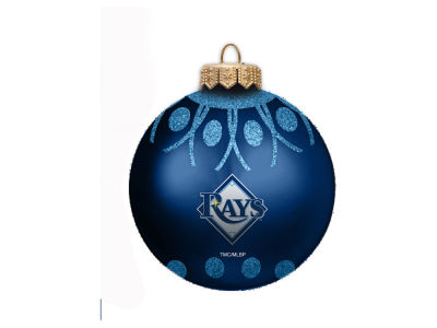 "Tampa Bay Rays 4"" Glitter Ornament"