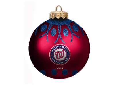 "Washington Nationals 4"" Glitter Ornament"