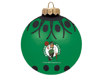 "Boston Celtics 4"" Glitter Ornament"