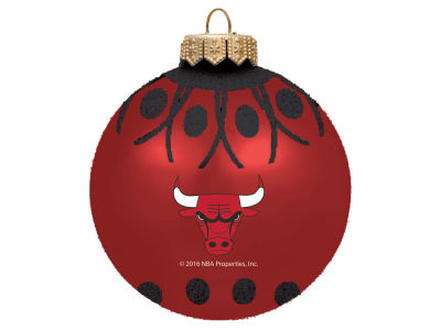 "Chicago Bulls 4"" Glitter Ornament"