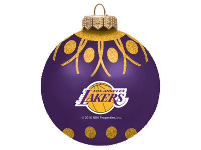 "Los Angeles Lakers 4"" Glitter Ornament"