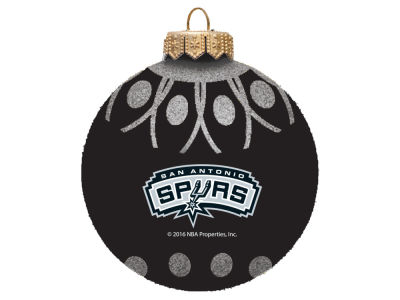 "San Antonio Spurs 4"" Glitter Ornament"