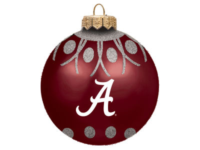 "Alabama Crimson Tide 4"" Glitter Ornament"