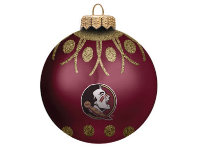 "Florida State Seminoles 4"" Glitter Ornament"