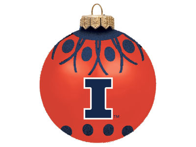 "Illinois Fighting Illini 4"" Glitter Ornament"