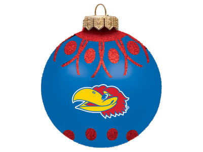 "Kansas Jayhawks 4"" Glitter Ornament"