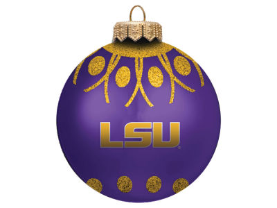 "LSU Tigers 4"" Glitter Ornament"