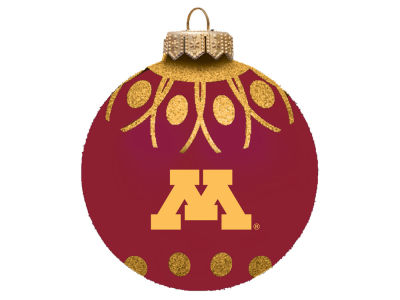 "Minnesota Golden Gophers 4"" Glitter Ornament"