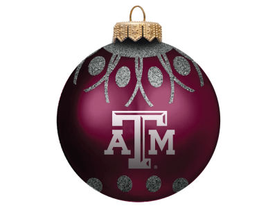 "Texas A&M Aggies 4"" Glitter Ornament"