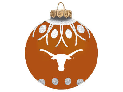 "Texas Longhorns 4"" Glitter Ornament"