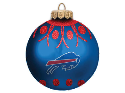 "Buffalo Bills 4"" Glitter Ornament"