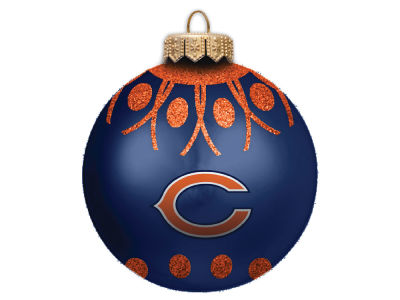 "Chicago Bears 4"" Glitter Ornament"