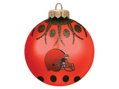 "Cleveland Browns 4"" Glitter Ornament"