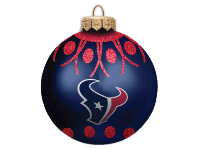 "Houston Texans 4"" Glitter Ornament"
