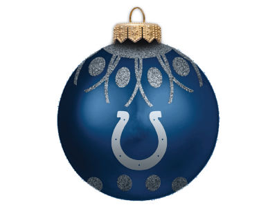 "Indianapolis Colts 4"" Glitter Ornament"