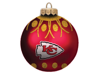 "Kansas City Chiefs 4"" Glitter Ornament"