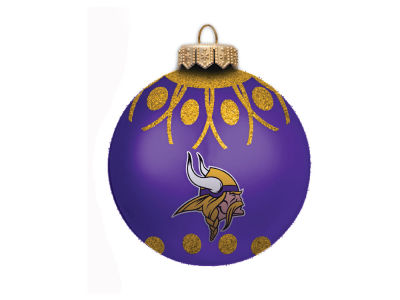 "Minnesota Vikings 4"" Glitter Ornament"