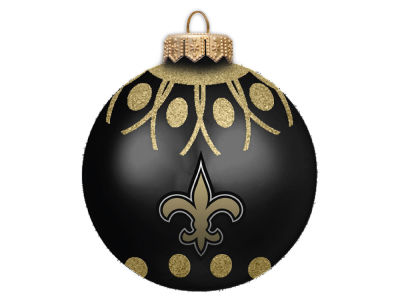 "New Orleans Saints 4"" Glitter Ornament"