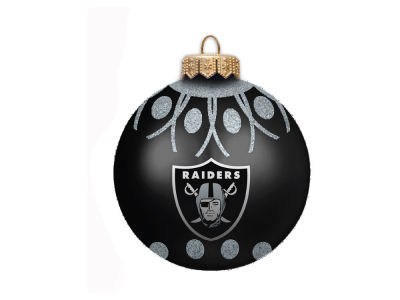 "Oakland Raiders 4"" Glitter Ornament"