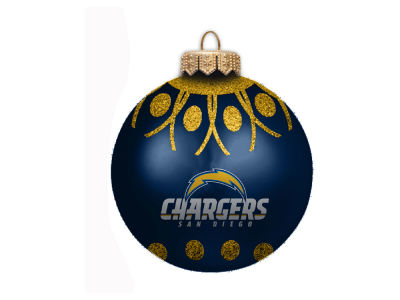 "San Diego Chargers 4"" Glitter Ornament"