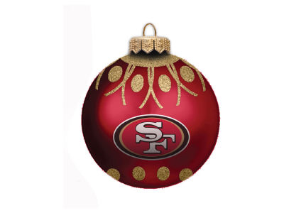 "San Francisco 49ers 4"" Glitter Ornament"
