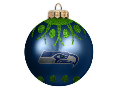 "Seattle Seahawks 4"" Glitter Ornament"