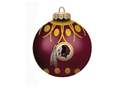 "Washington Redskins 4"" Glitter Ornament"