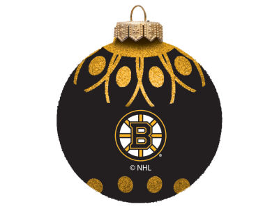 "Boston Bruins 4"" Glitter Ornament"