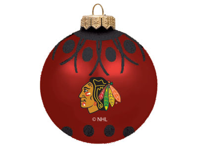 "Chicago Blackhawks 4"" Glitter Ornament"