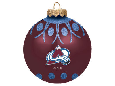 "Colorado Avalanche 4"" Glitter Ornament"