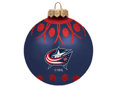 "Columbus Blue Jackets 4"" Glitter Ornament"