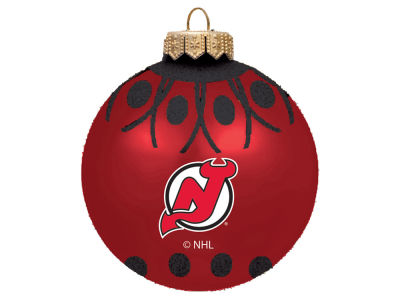 "New Jersey Devils 4"" Glitter Ornament"