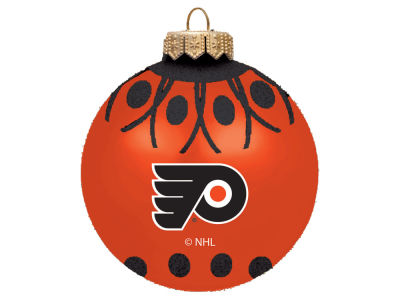 "Philadelphia Flyers 4"" Glitter Ornament"