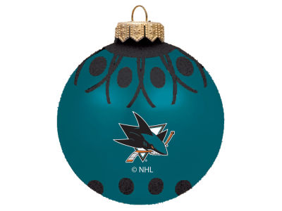 "San Jose Sharks 4"" Glitter Ornament"