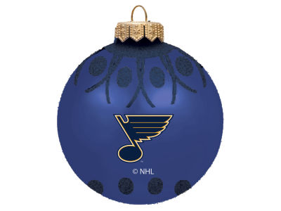 "St. Louis Blues 4"" Glitter Ornament"