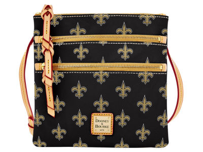 New Orleans Saints Dooney & Bourke Triple Zip Crossbody Bag