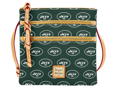 New York Jets Dooney & Bourke Triple Zip Crossbody Bag