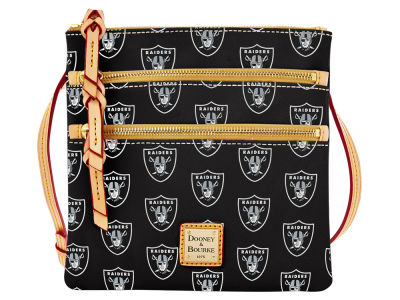 Oakland Raiders Dooney & Bourke Triple Zip Crossbody Bag