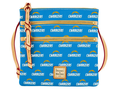 Los Angeles Chargers Dooney & Bourke Triple Zip Crossbody Bag