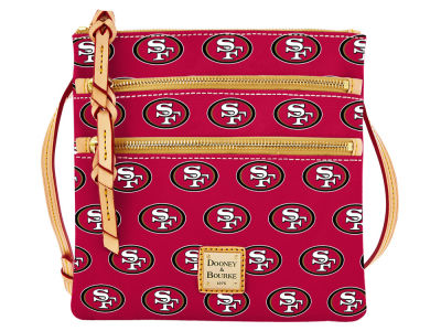 San Francisco 49ers Dooney & Bourke Triple Zip Crossbody Bag