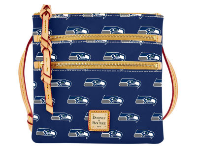Seattle Seahawks Dooney & Bourke Triple Zip Crossbody Bag