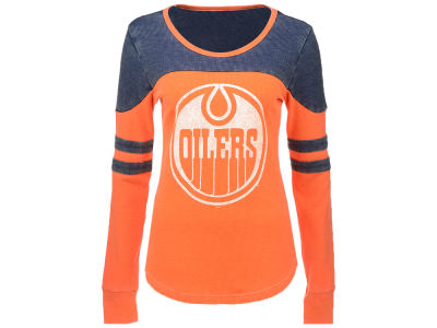 Edmonton Oilers GIII NHL Women's Long Sleeve Hat Trick Thermal Top