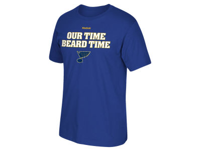 St. Louis Blues Reebok NHL Men's Our Beard Our Time T-Shirt