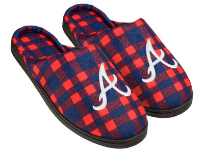 Atlanta Braves Flannel Cup Sole Slippers Boxed