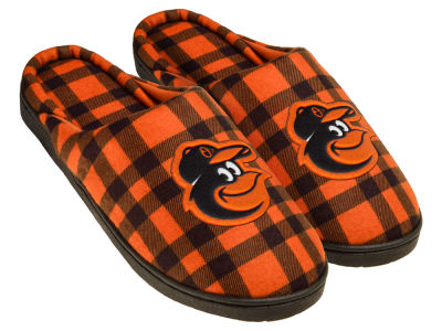 Baltimore Orioles Flannel Cup Sole Slippers Boxed