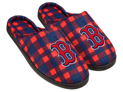 Boston Red Sox Flannel Cup Sole Slippers Boxed