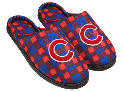 Chicago Cubs Flannel Cup Sole Slippers Boxed