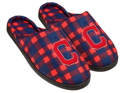 Cleveland Indians Flannel Cup Sole Slippers Boxed