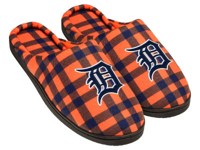 Detroit Tigers Flannel Cup Sole Slippers Boxed