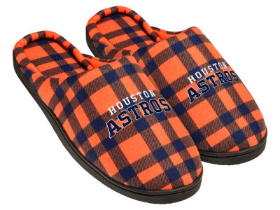 Houston Astros Flannel Cup Sole Slippers Boxed